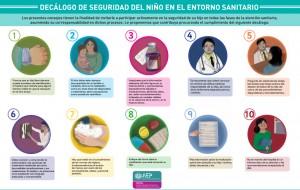 Decálogo de Seguridad del Niño en el entorno sanitario (Asociación Española de Pediatría)