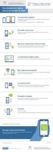 Infografía Recomendaciones Básicas sobre uso de apps salud (Estrategia de calidad y seguridad en aplicaciones móviles en Salud)